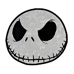 Disney Auto Decal - Jack Skellington Face - Transparent