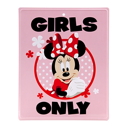 Disney Tin Sign- Minnie Mouse Tin Sign - Girls Only
