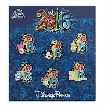 Disney Booster Pin Set - 2016 Mickey Mouse and Friends