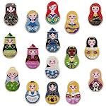 Disney Princess Pin Set - Nesting Dolls Mini Pin Pack
