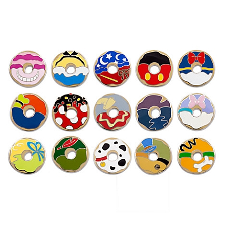 Disney Collectible Pin Pack DONUTS Mystery Bag of 5 Pins Sealed NEW
