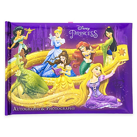 Disney Autograph and Photo Book - Princesses - Purple