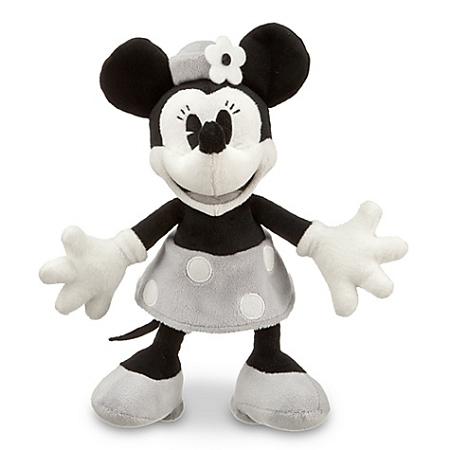Disney Plush Black And White Minnie Mouse Plush Toy 7 H