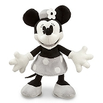 Disney Plush - Black and White Minnie Mouse Plush Toy -- 7'' H