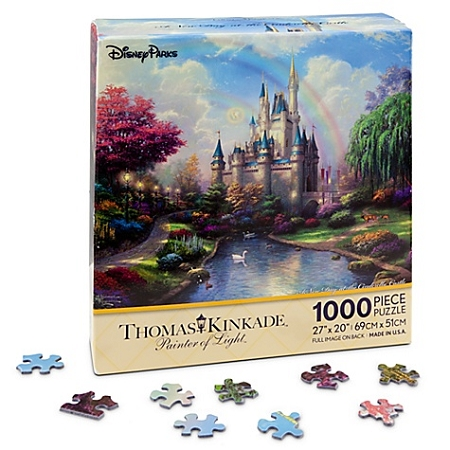Disney Puzzle - Walt Disney World Cinderella Castle Puzzle by Thomas Kinkade