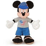 Disney Plush - American Adventure - Mickey Mouse Plush Toy -- 10'' H
