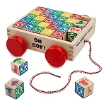 Disney Play Set - Mickey Mouse Wood Blocks and Cart Set