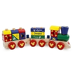 Disney Play Set - Mickey Mouse Wood Blocks Stacking Train Set