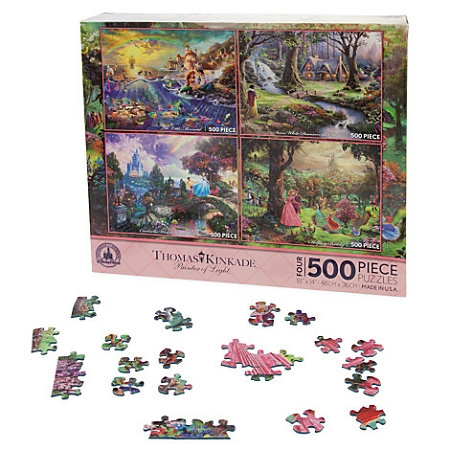 Disney Thomas Kinkade Puzzle Set - Princess Classics