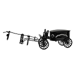 Disney Die Cast Vehicle - Haunted Mansion Hearse - Walt Disney World