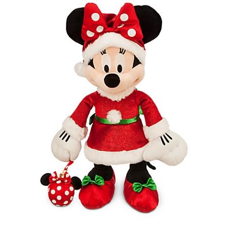Christmas Minnie Mouse Plush.Disney Christmas Plush Santa Minnie Mouse With Ornament 17