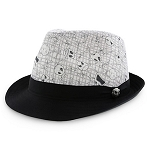 Disney Hat - Fedora Hat - Jack Skellington - Black and White