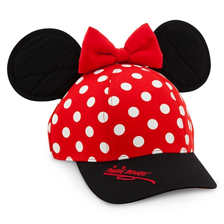 Disney Hat - Baseball Cap for Girls - Minnie Mouse Ears with Bow