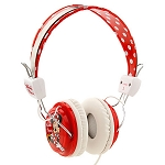Disney Headphones - Minnie Mouse - Polka Dots - Red