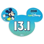 Disney Auto Magnet - 2018 Run Disney - Mickey Mouse - 13.1