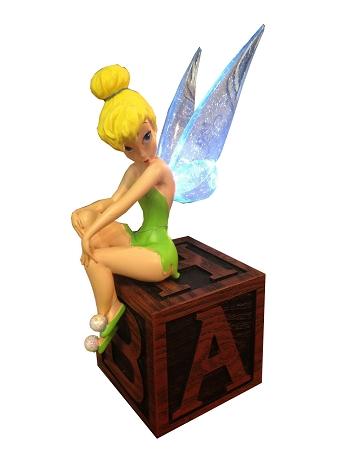 Disney Figurine Tinker Bell On Block Light Up