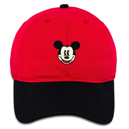 7bf15dbf7e900 Disney Hat - Baseball Cap - Mickey Mouse Two-Tone - Red   Black
