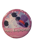 Disney Souvenir Button - Just Engaged - Ear Hats