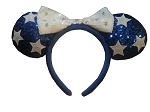 Disney Headband Hat - Patriotic Sequined Ears - Stars