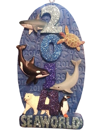 Sea World Christmas Ornament - 2014 Logo - Marine Animals