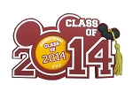 Disney Photo Frame Magnet - 2014 Graduation - Class of 2014