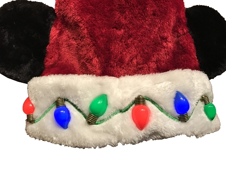 25251238d1ee6 Disney Christmas Hat - Santa Mickey Mouse Ears - Light Up Lights. Tap to  expand