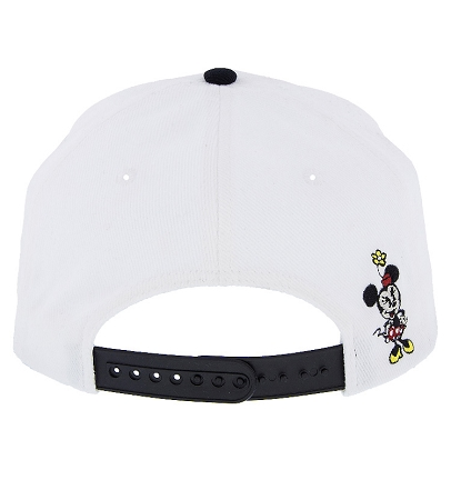 c33948522a8 Disney Hat - Baseball Cap - Minnie Lettering with Dots - Black   White