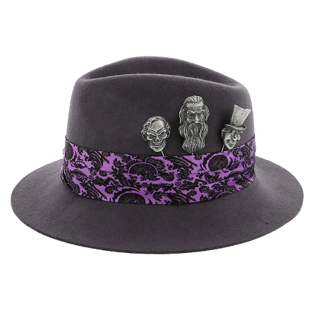 523948f88 Disney Hat - Fedora Hat - Haunted Mansion - Ghost Pins