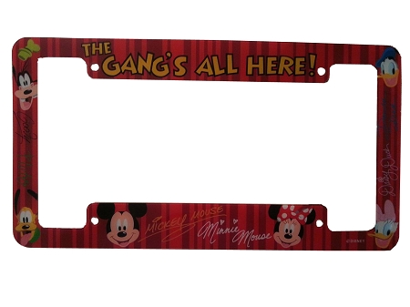 Disney License Plate Frame Set - Mickey Mouse and Gang
