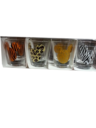 Disney Shot Glass Set - Animal Mickey Mouse Icon