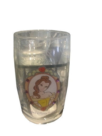Disney Arribas Juice Glass - Belle - Jeweled