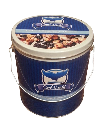 Sea World Shamu Candy Co. - Cookies & Cream Gourmet Popcorn Tin