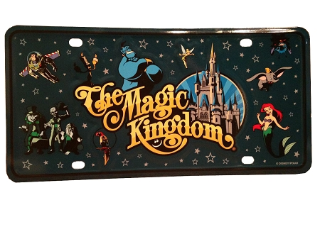 Disney License Plate - The Magic Kingdom - Logo