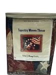 Disney Throw Blanket - Mickey Mouse - Americana Tapestry Woven Throw