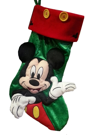 disney christmas stocking mickey mouse green
