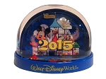 Disney Snow Globe - 2015 Logo - Mickey Mouse