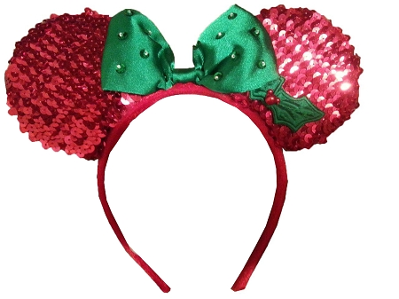 disney holiday hat minnie mouse ear headband with bow red