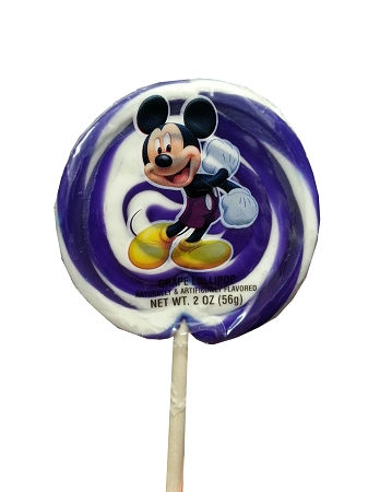 Disney Parks Lollipop - Mickey Mouse Purple and White Swirl - 2 oz