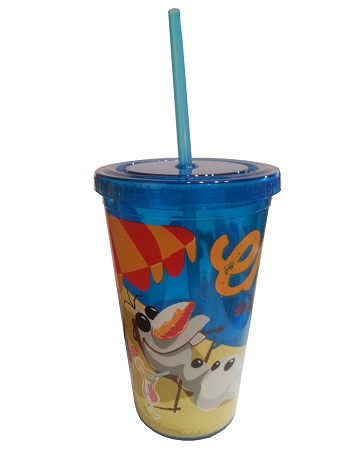 Disney Tumbler with Straw - Frozen - Olaf