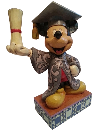 Disney Jim Shore Figurine - Graduation Mickey Mouse - You Did It
