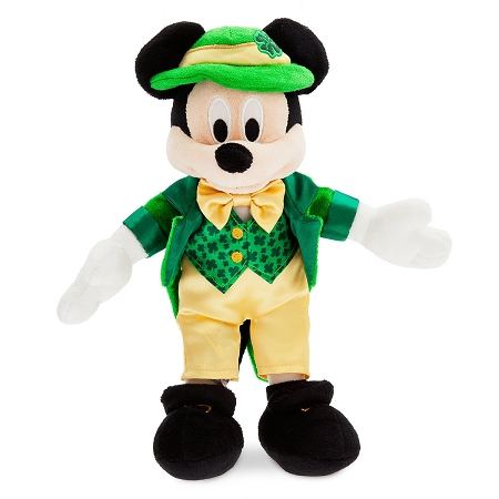 disney holiday plush 2018 st patrick s day mickey mouse