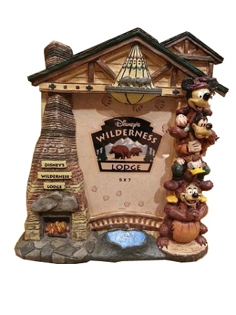 Disney Photo Frame - Wilderness Lodge Resort - Totem Mickey and Friends