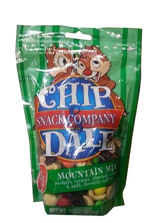 Disney Chip Dale Snack Co Mountain Mix 10oz Bag