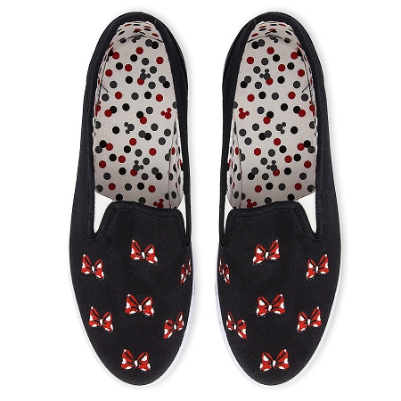 Disney Slip on Shoes - Minnie Mouse Bows - Canvas