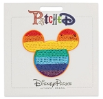 Disney Iron On Patch - Patched - Mickey Mouse Rainbow