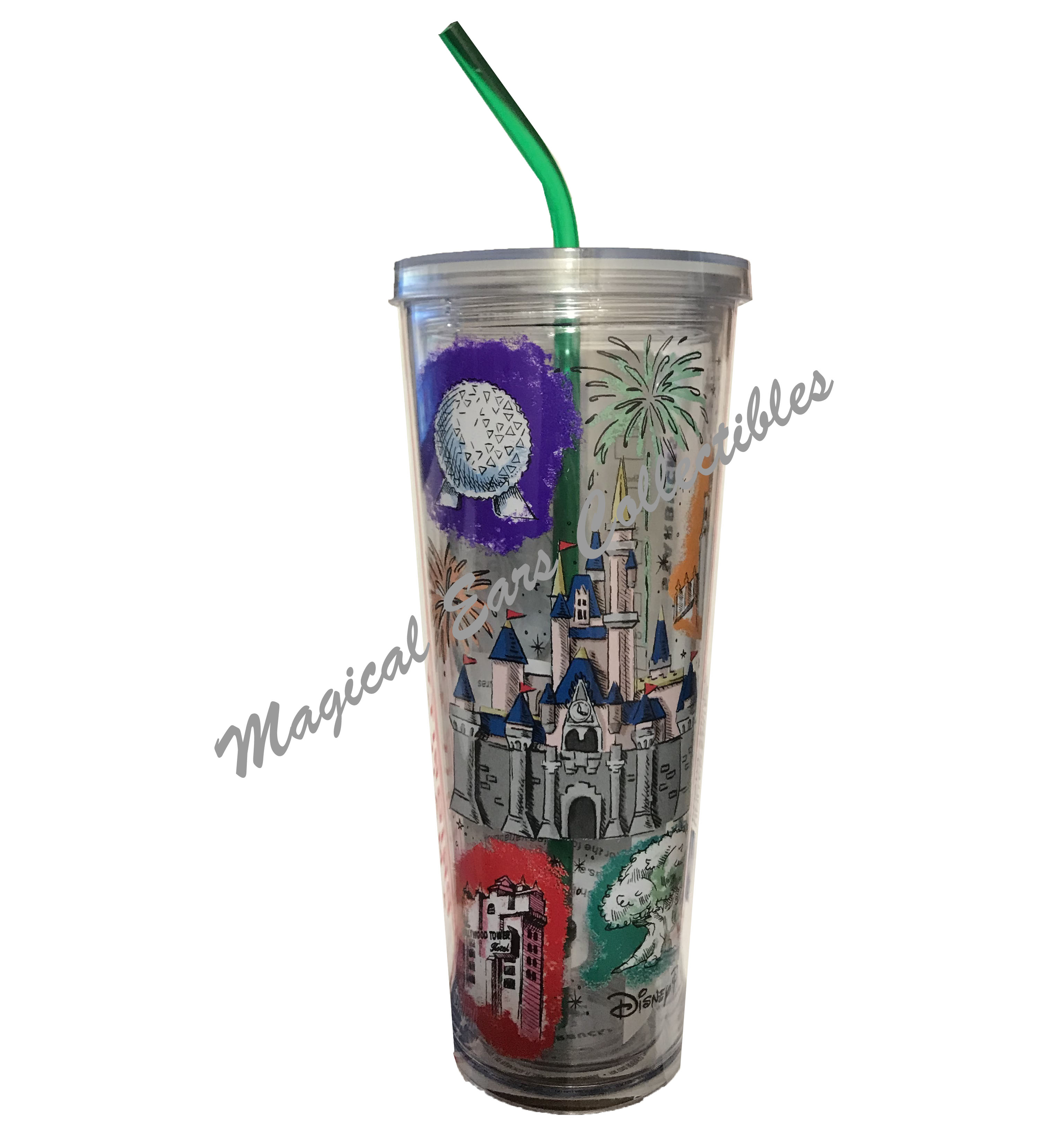 Disney Tumbler With Straw Starbucks Disney Parks 2nd Edition