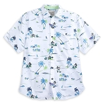 Disney Tommy Bahama Shirt for Men - Mickey Mouse Beach - White