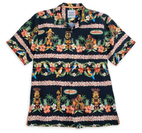 Disney Tommy Bahama Shirt for Men - Enchanted Tiki Room - Silk