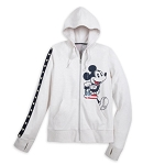 Disney Zip Hoodie for Women - Mickey Mouse Americana - White