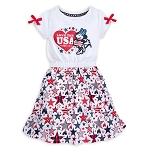 Disney Dress for Girls - Minnie Mouse Americana - Walt Disney World